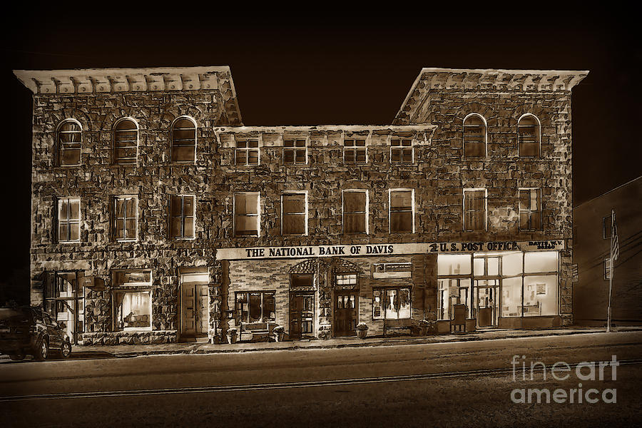 Bank Photograph - The National Bank Of Davis Wv by Dan Friend