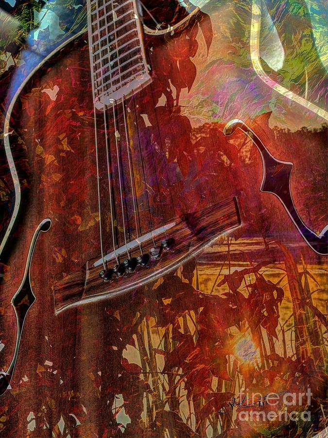 The Nature Of Music Digital Guitar Art By Steven Langston Digital Art