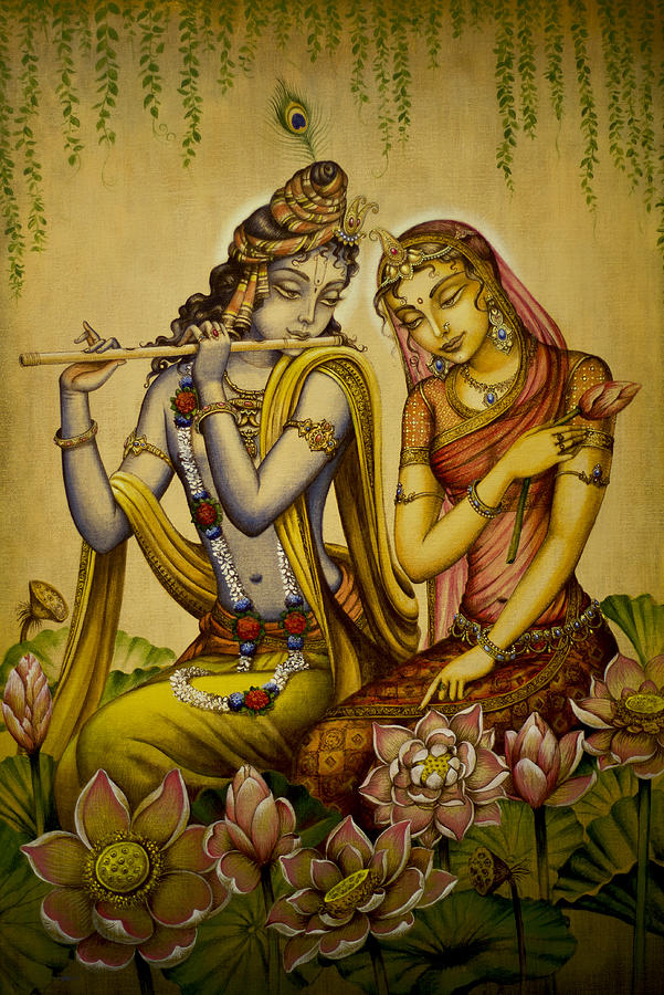 The Nectar Of Krishnas Flute Painting  - The Nectar Of Krishnas Flute Fine Art Print