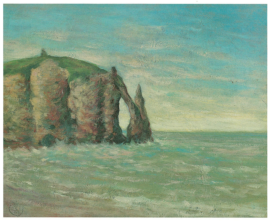The Needle At Etretat Painting  - The Needle At Etretat Fine Art Print