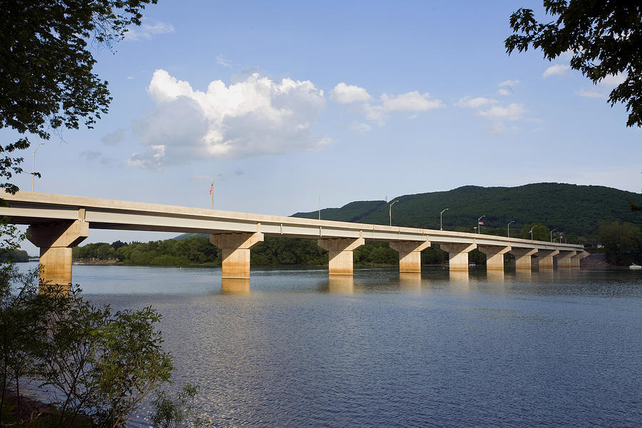 Arch Street Bridge Photograph - The New Arch Street Bridge by Gene Walls