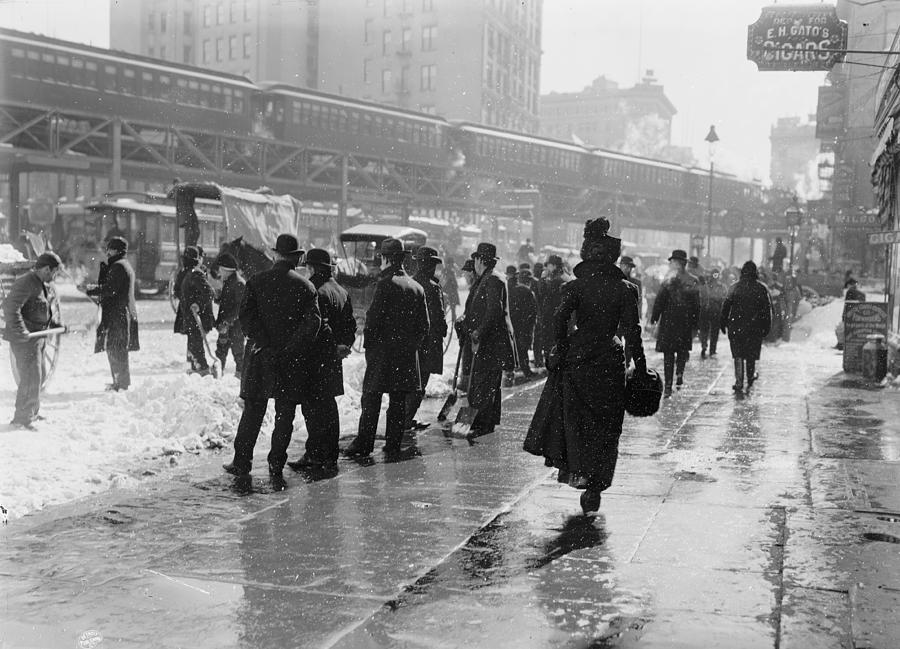 The New York Blizzard 1899 Photograph
