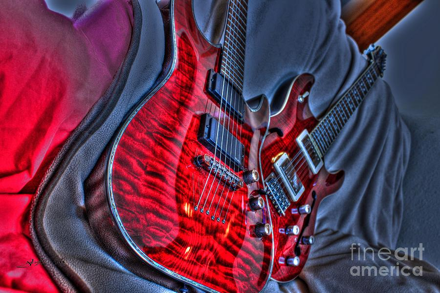 The Next Red Thing Digital Guitar Art By Steven Langston Photograph