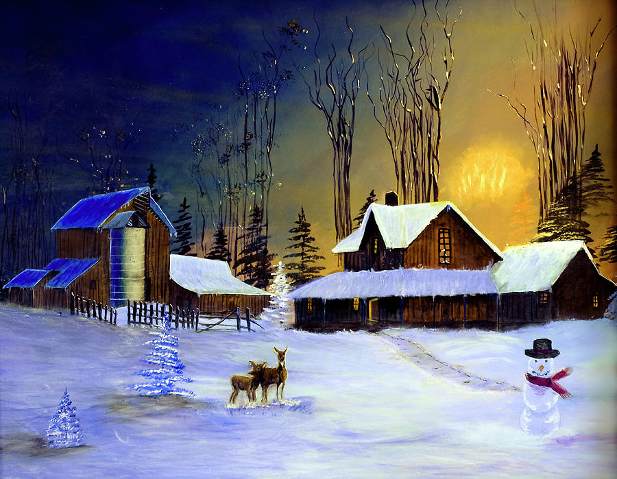 The Night Before Christmas Painting