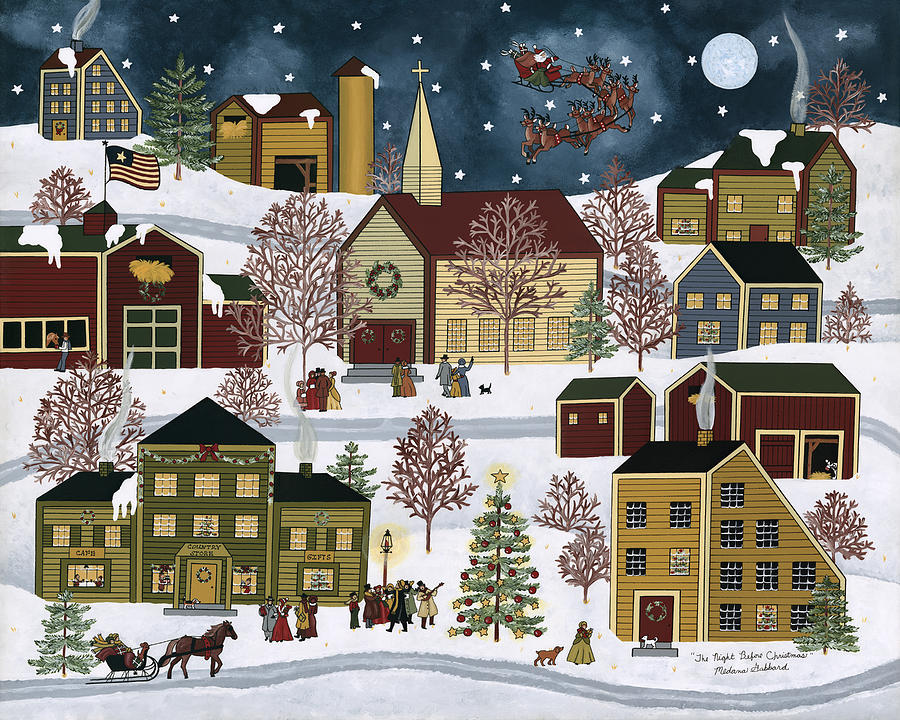The Night Before Christmas Painting  - The Night Before Christmas Fine Art Print