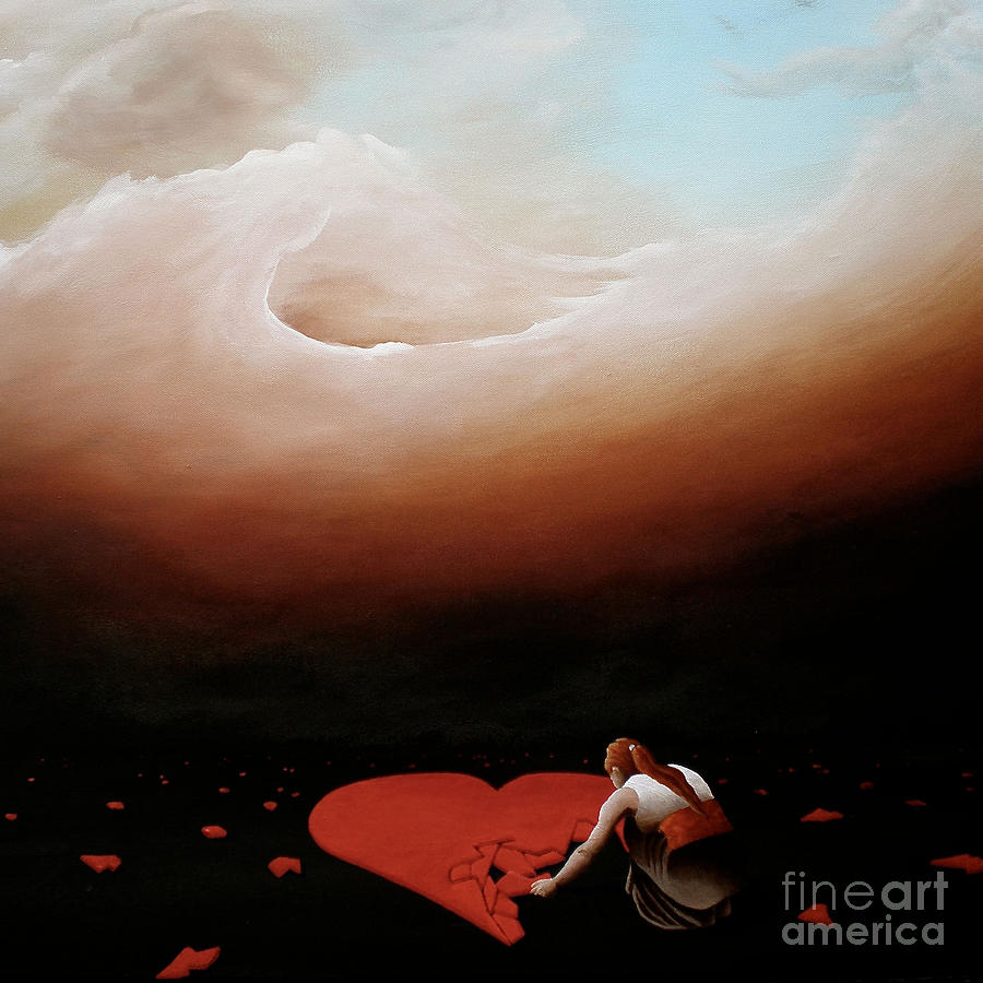 Heart Painting - The Noble Act Of Starting Over Again by Ric Nagualero