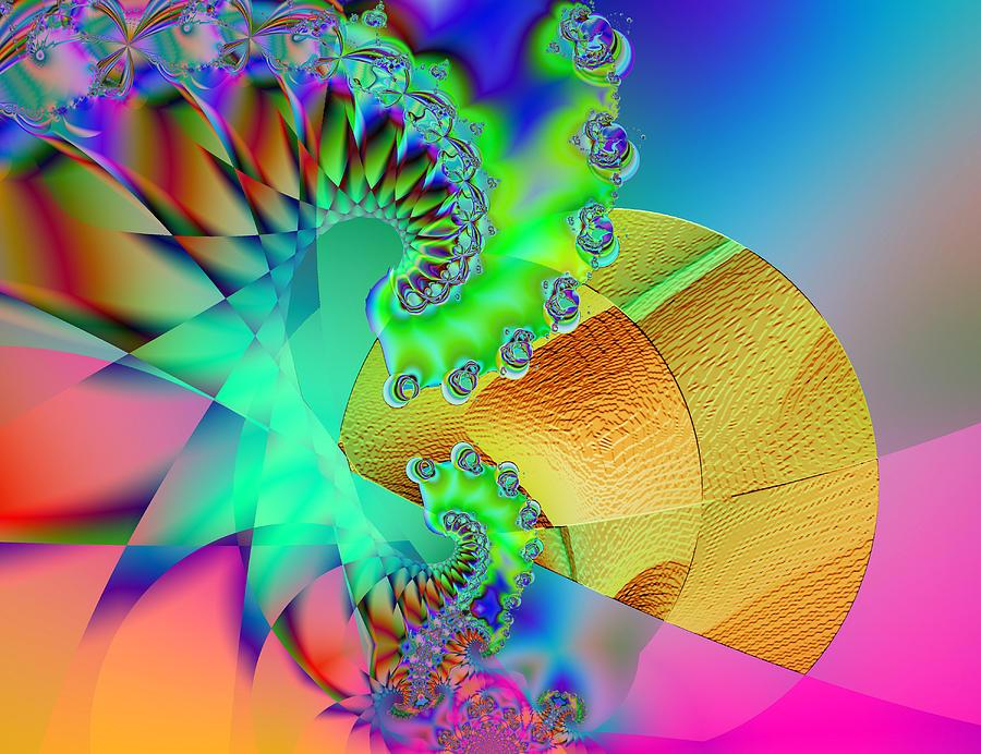 Fractal Digital Art - The Nudge by Wendy J St Christopher