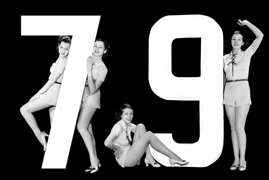 """The Number """"79"""" And Four Women Photograph"""