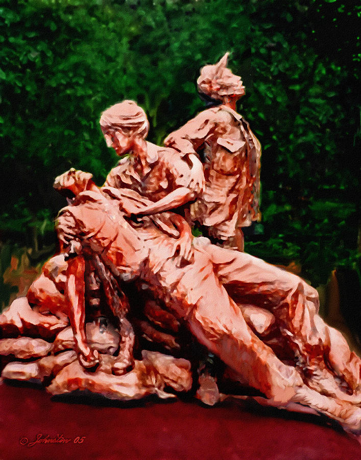 The Nurses Memorial Dc Painting  - The Nurses Memorial Dc Fine Art Print