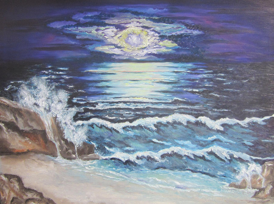 The Ocean Sings The Sky Listens Painting  - The Ocean Sings The Sky Listens Fine Art Print
