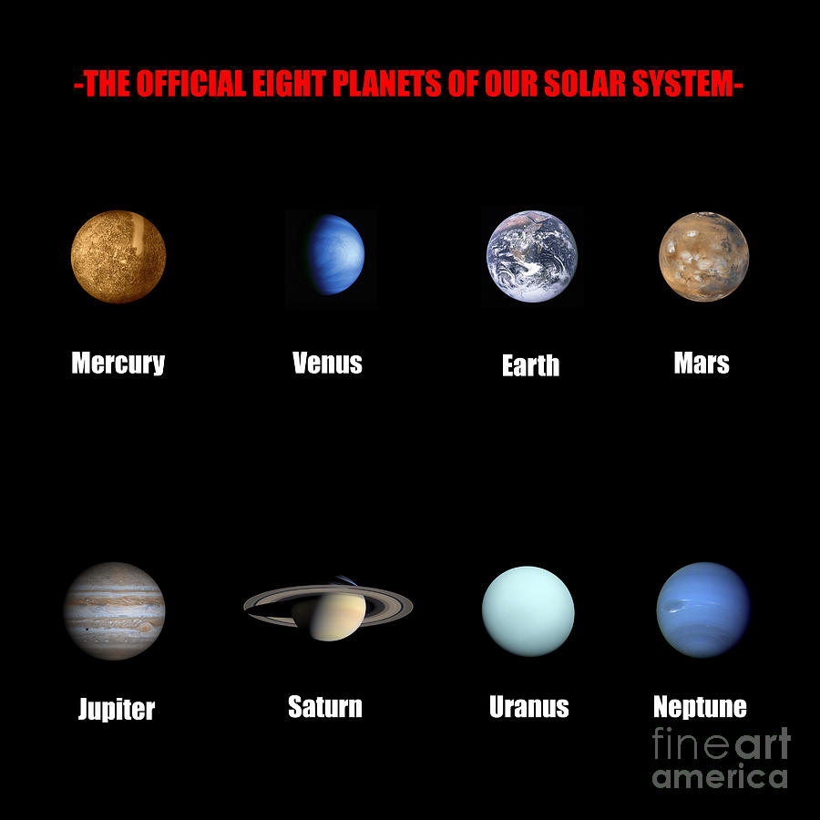 the colors of the planets in solar system - photo #31