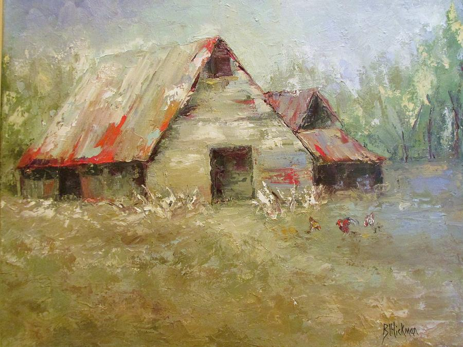 The Old Barns Painting