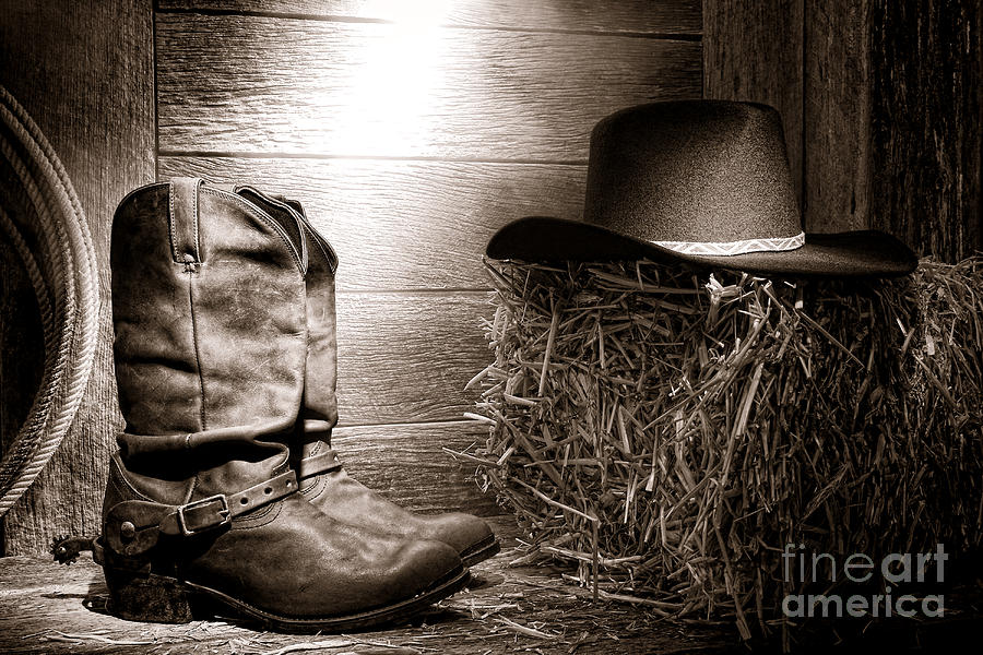 The Old Boots Photograph  - The Old Boots Fine Art Print