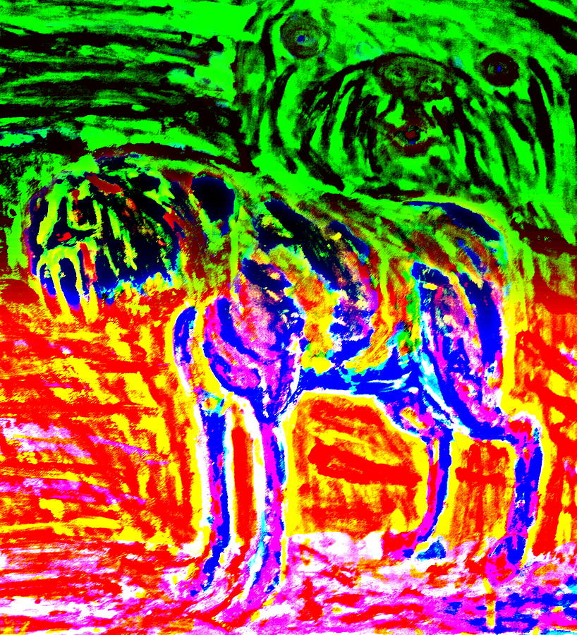 The Old Dog Painting