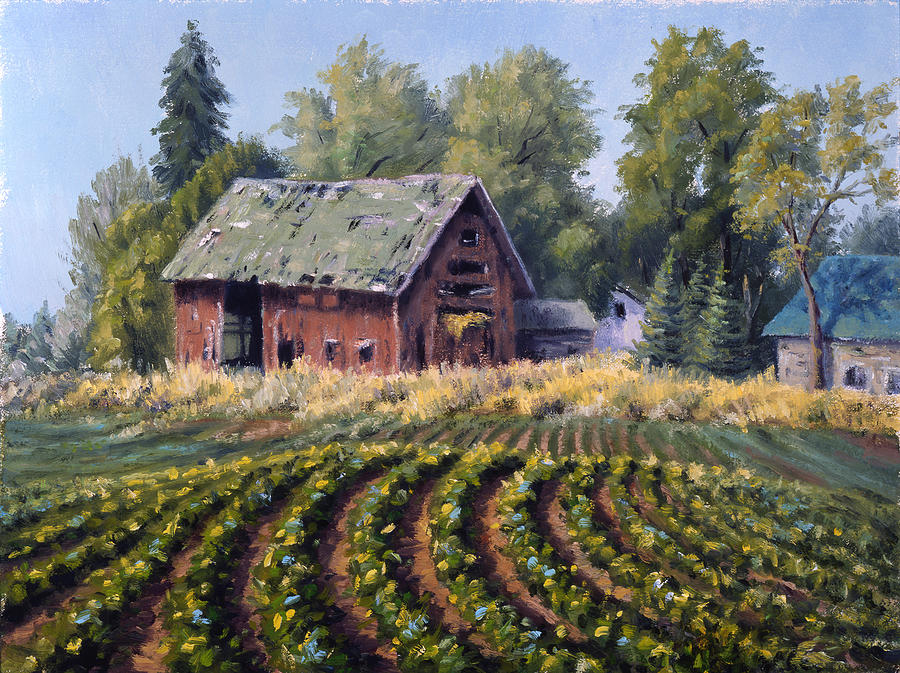 The Old Farmstead Painting  - The Old Farmstead Fine Art Print