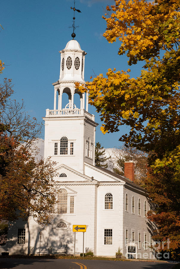 The Old First Church Battle Monument Hill Bennington Vermont Photograph
