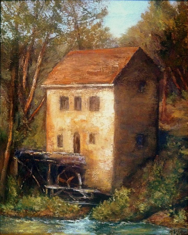 The Old Mill Painting