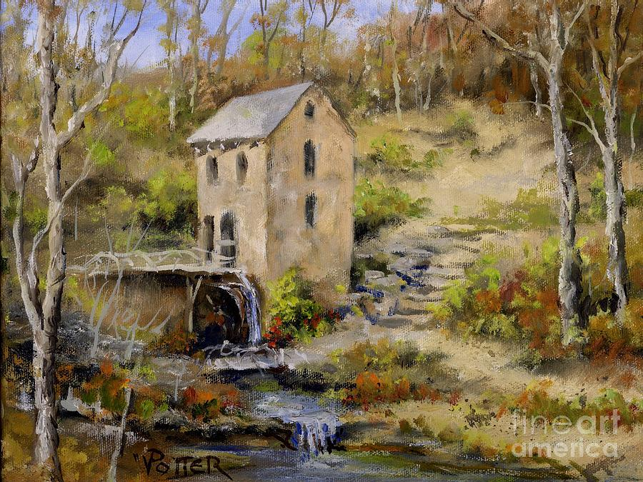 The Old Mill In Late Fall Painting