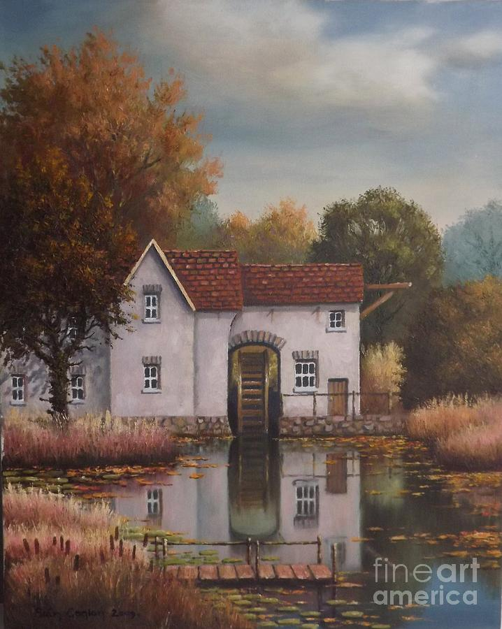 The Old Mill Painting  - The Old Mill Fine Art Print