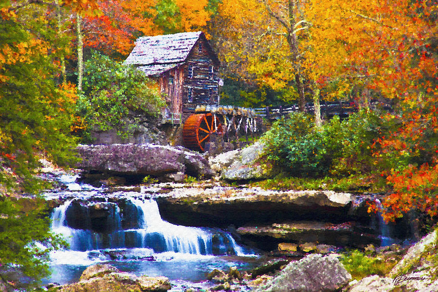 The Old Mill Stream Painting