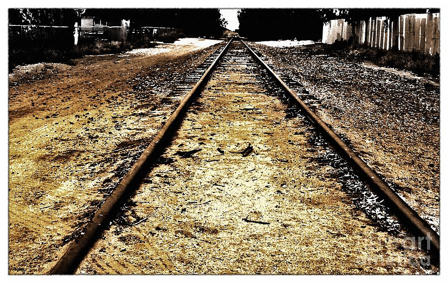 The Old Railroad Tracks Photograph  - The Old Railroad Tracks Fine Art Print