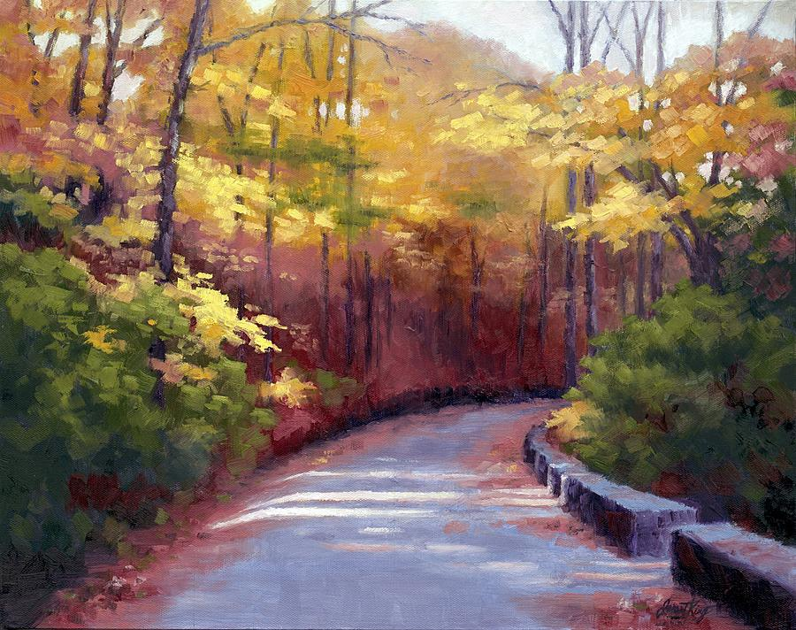 The Old Roadway In Autumn II Painting