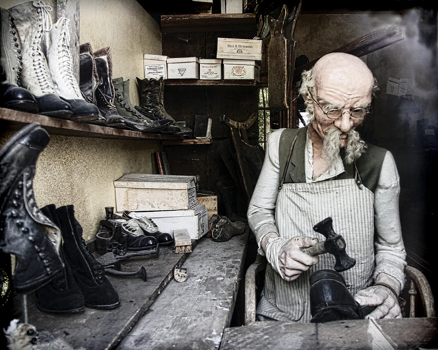The Old Shoe Cobbler Photograph
