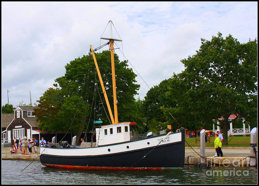 The Old Tugboat At Mystic Photograph  - The Old Tugboat At Mystic Fine Art Print
