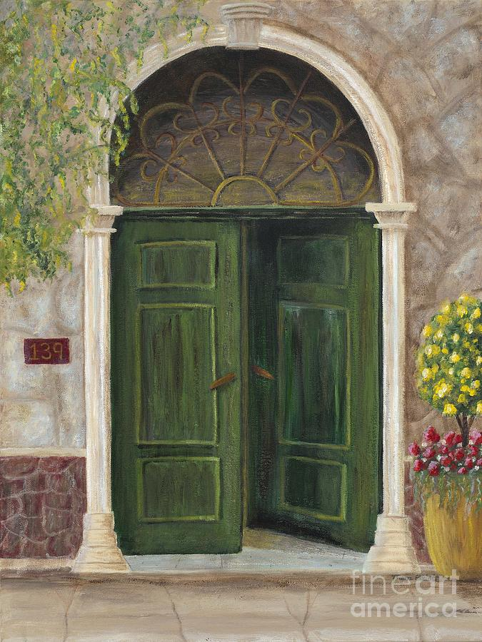 The Opened Door Painting  - The Opened Door Fine Art Print