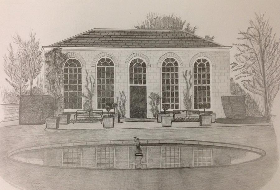 Building / Architecture / Drawing /art/  Drawing - The Orangery by Norman Richards
