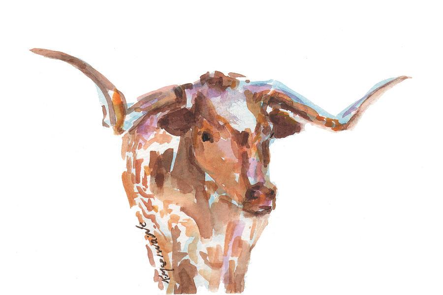 The Original Texas Longhorn Painting