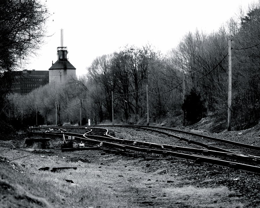 The Other Side Of The Tracks In Charlottesville Va Photograph
