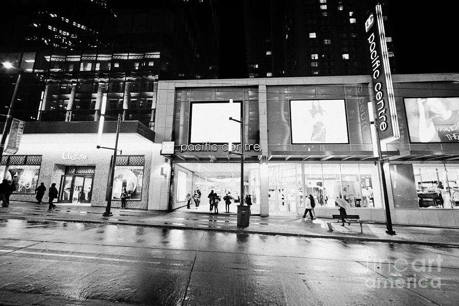 Centre granville street shopping mall vancouver bc canada photograph