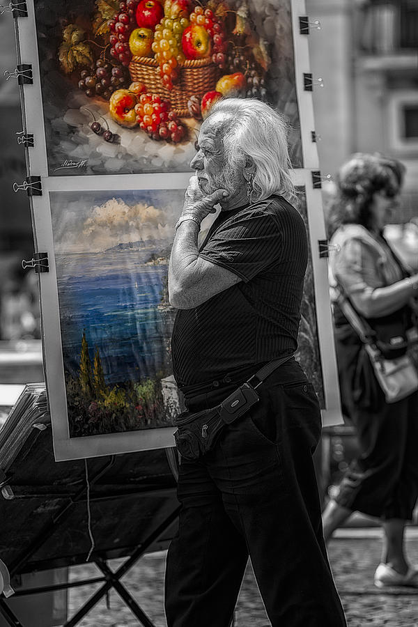 The Painter And His Paintings Photograph