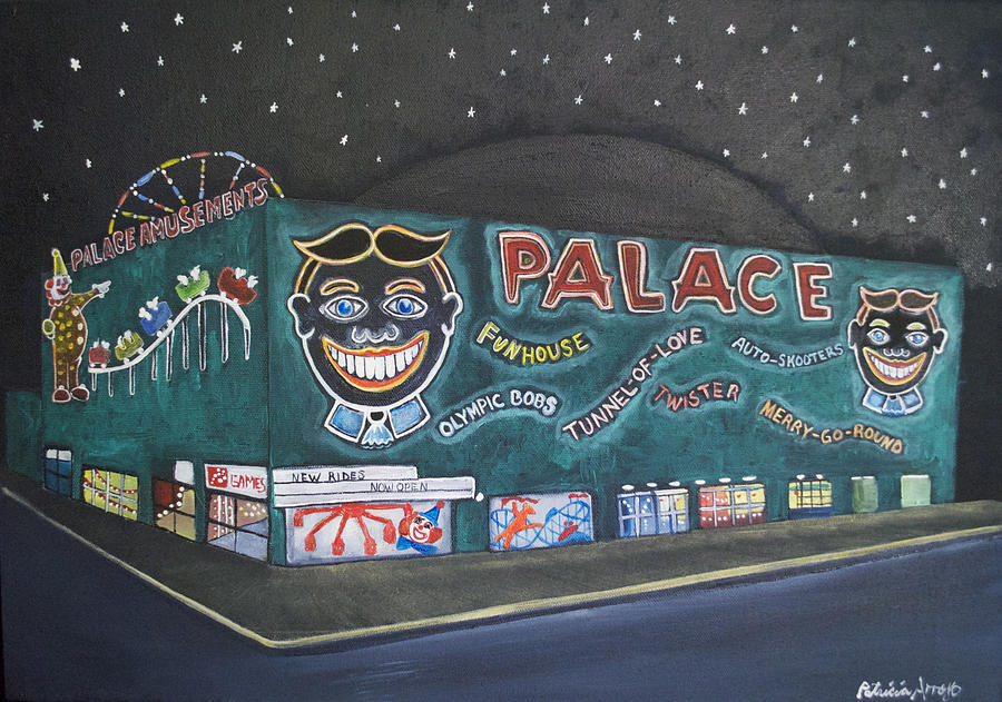 The Palace At Night Painting