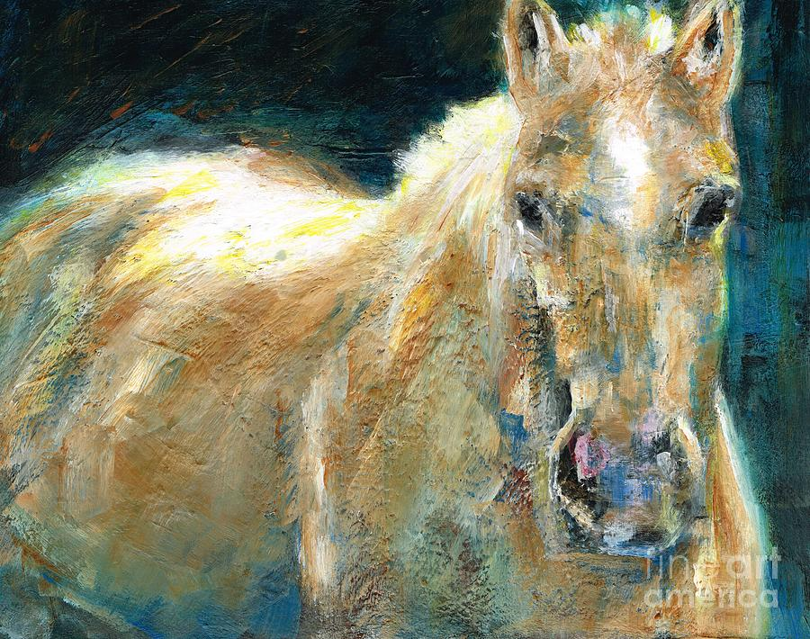 Horses Painting - The Palomino by Frances Marino