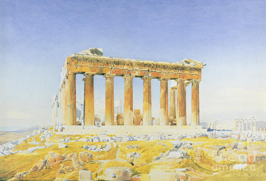 Temple Painting - The Parthenon by Thomas Hartley Cromek
