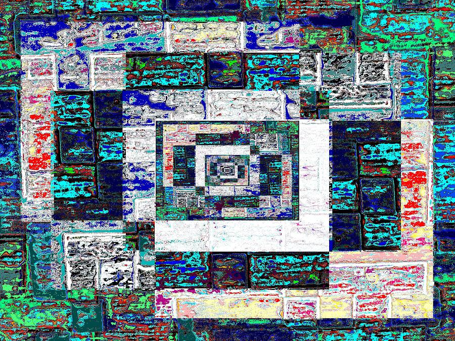 The Patchwork Digital Art  - The Patchwork Fine Art Print
