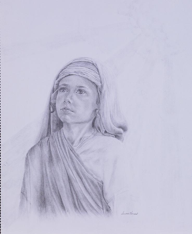 Jesus Drawing - The Path Before Him From The Life Of Jesus Series by Susan Harris