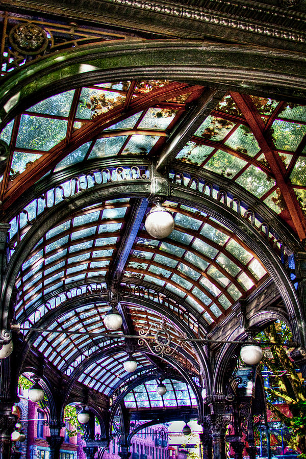 The Pergola Photograph - The Pergola Ceiling In Pioneer Square by David Patterson