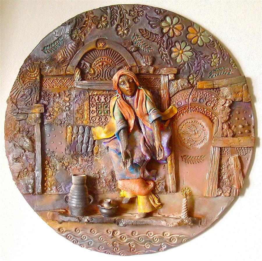 Religious Ceramic Art - The Persecution Dance by Gary Wilson