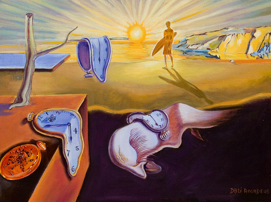 The Persistence Of Memory-amadeus Series  Painting