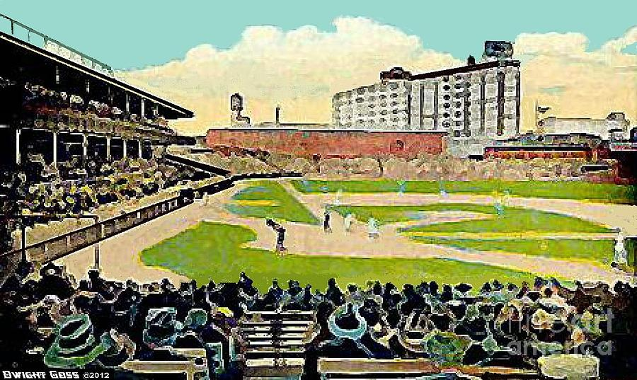 The Phillies Baker Bowl In Philadelphia Pa In 1914 Painting  - The Phillies Baker Bowl In Philadelphia Pa In 1914 Fine Art Print