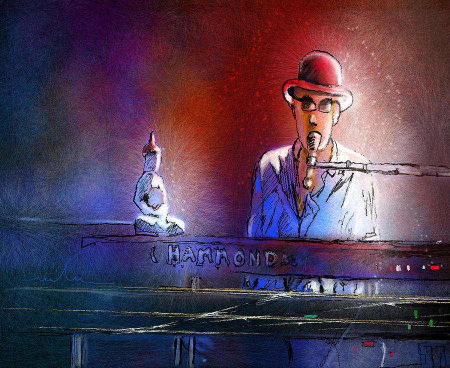 The Pianist 02 Painting by Miki De Goodaboom