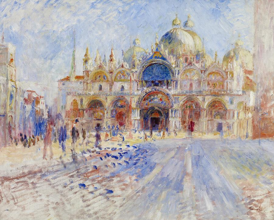 Pierre Auguste Renoir Painting - The Piazza San Marco by Pierre Auguste Renoir