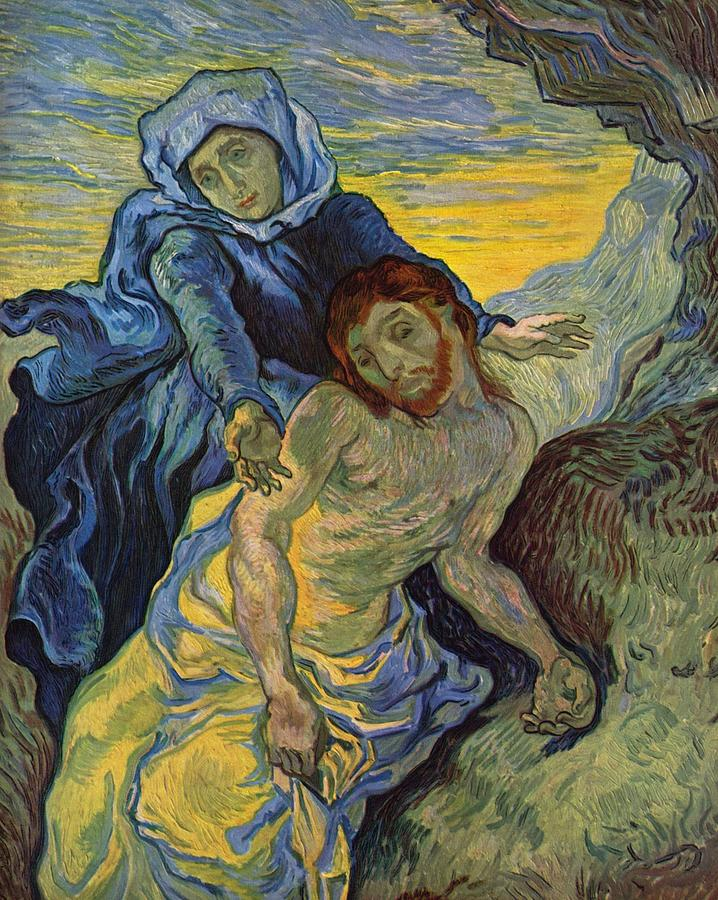 The Pieta After Delacroix 1889 Painting  - The Pieta After Delacroix 1889 Fine Art Print