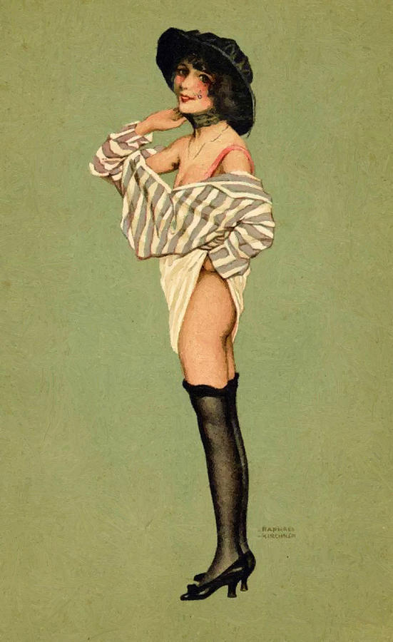 The Pin Up Girl Painting  - The Pin Up Girl Fine Art Print
