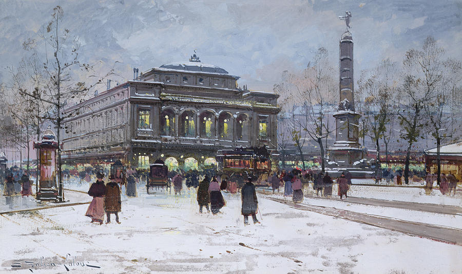 The Place Du Chatelet Paris Painting