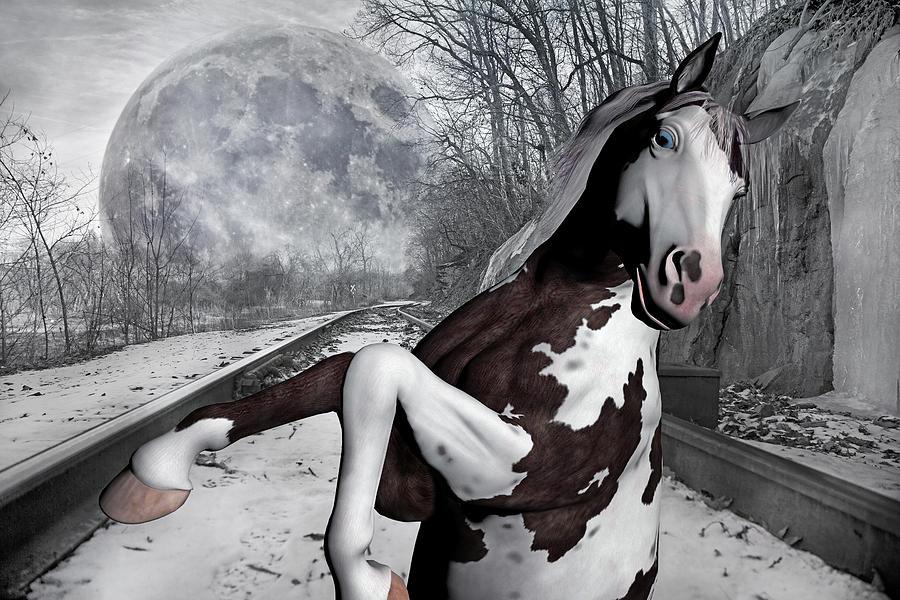 The Pony Express Mixed Media