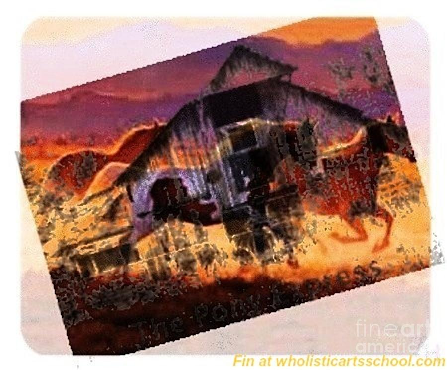 The Pony Express Painting